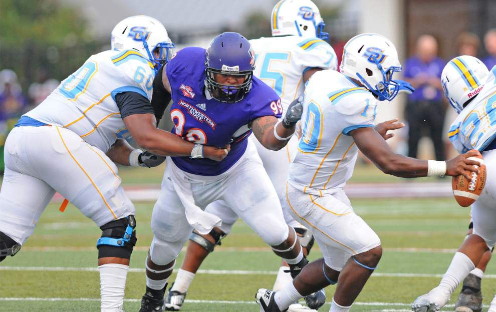 Northwestern State's Deon Simon is back in Baton Rouge and ready for more _lowres