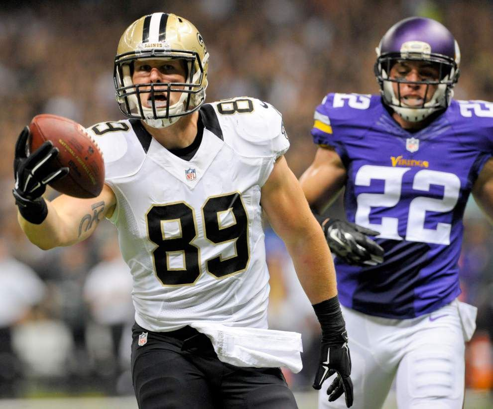 Even with Jimmy Graham gone, Saints tight end Josh Hill doesn't see big changes ahead _lowres