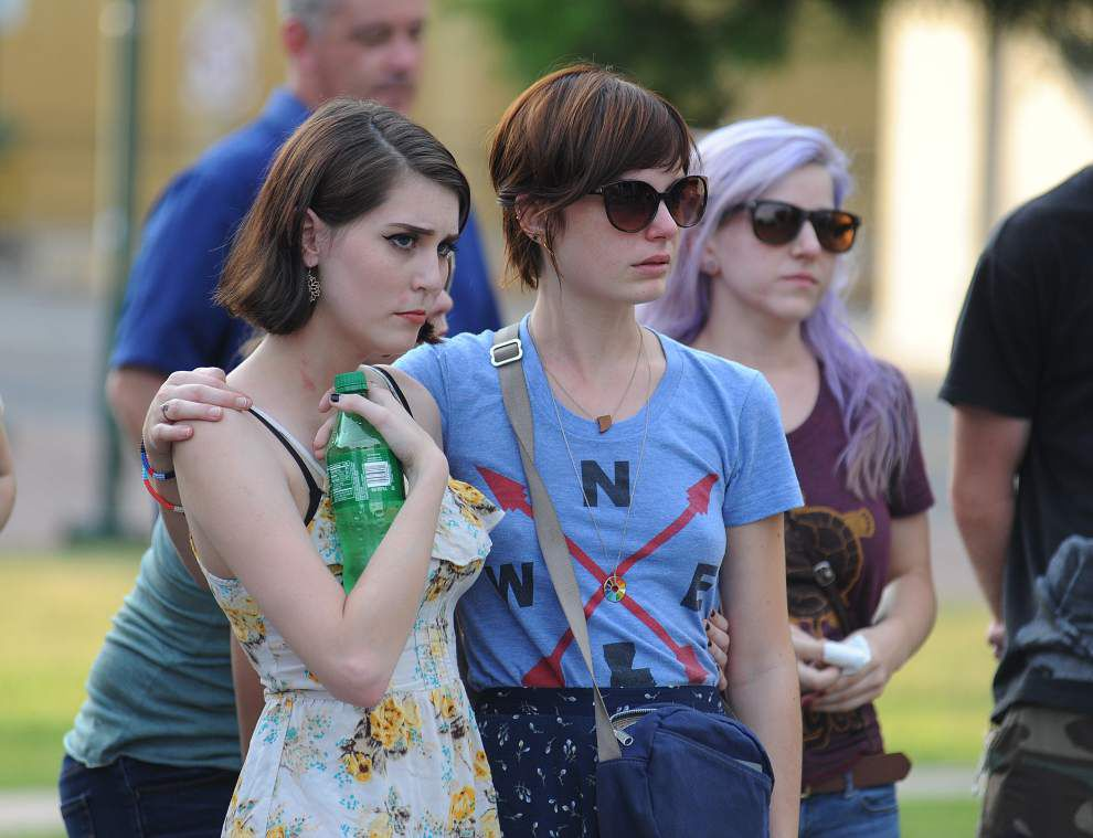 Photos: Lafayette residents rally together after tragic theater shooting _lowres
