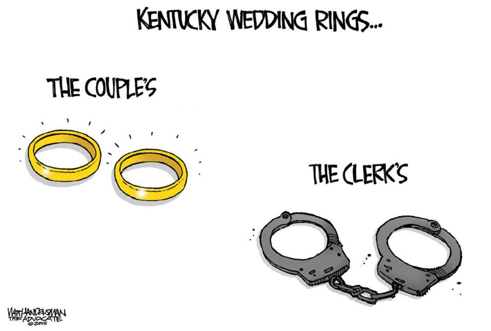 Walt Handelsman: Wedding rings for everyone _lowres