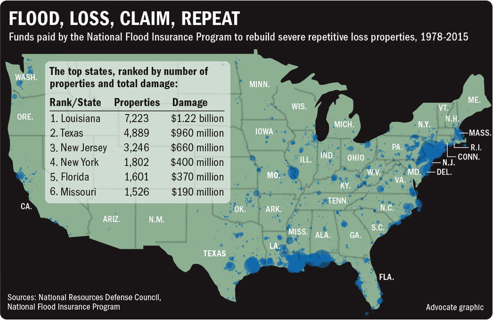 Congress Urged To Find Ways To Move Families Trapped In Homes That - National flood map