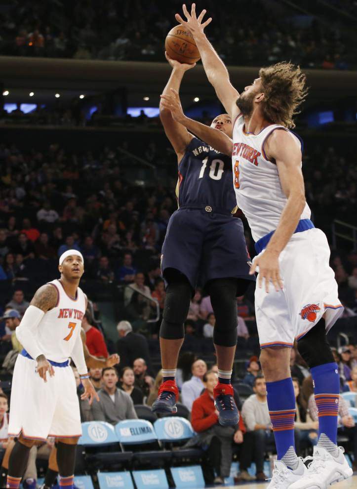 Pelicans once again struggle in second half, fall to Knicks 95-87 to tumble to 1-9 _lowres