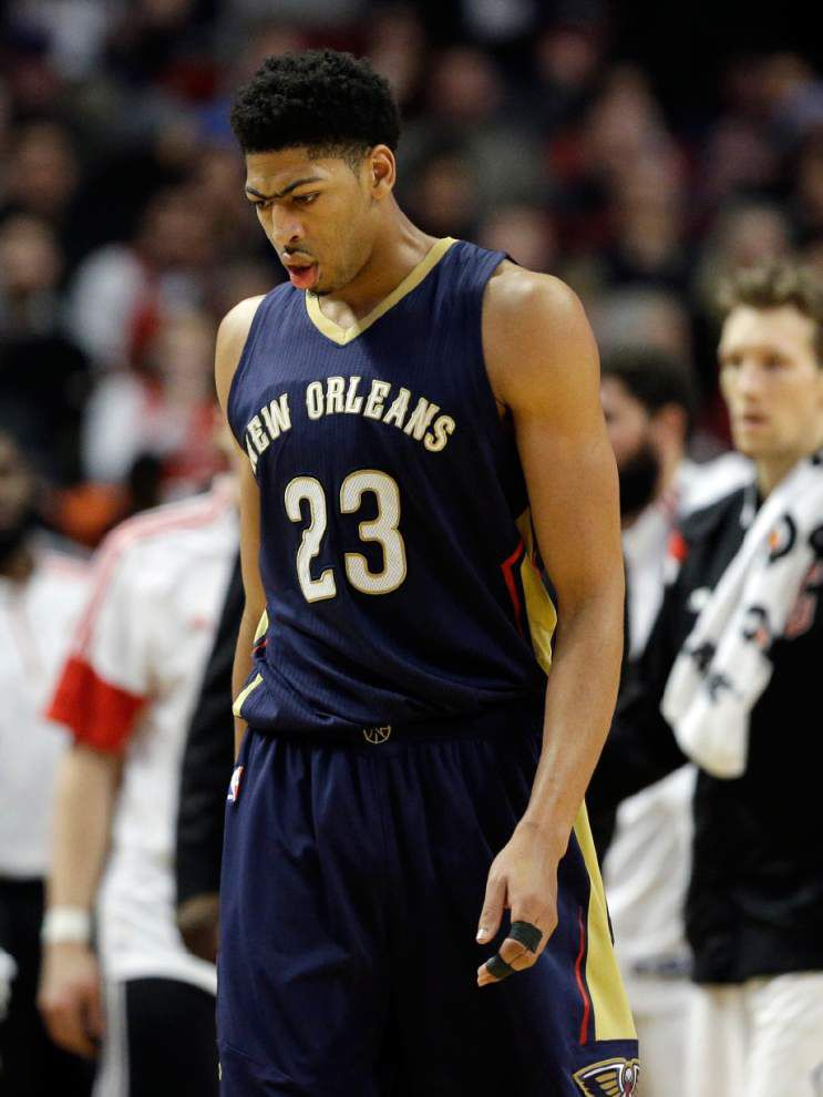 Anthony Davis says he's pleased his Pelicans hung with Chicago but disappointed the Bulls pulled it out late _lowres