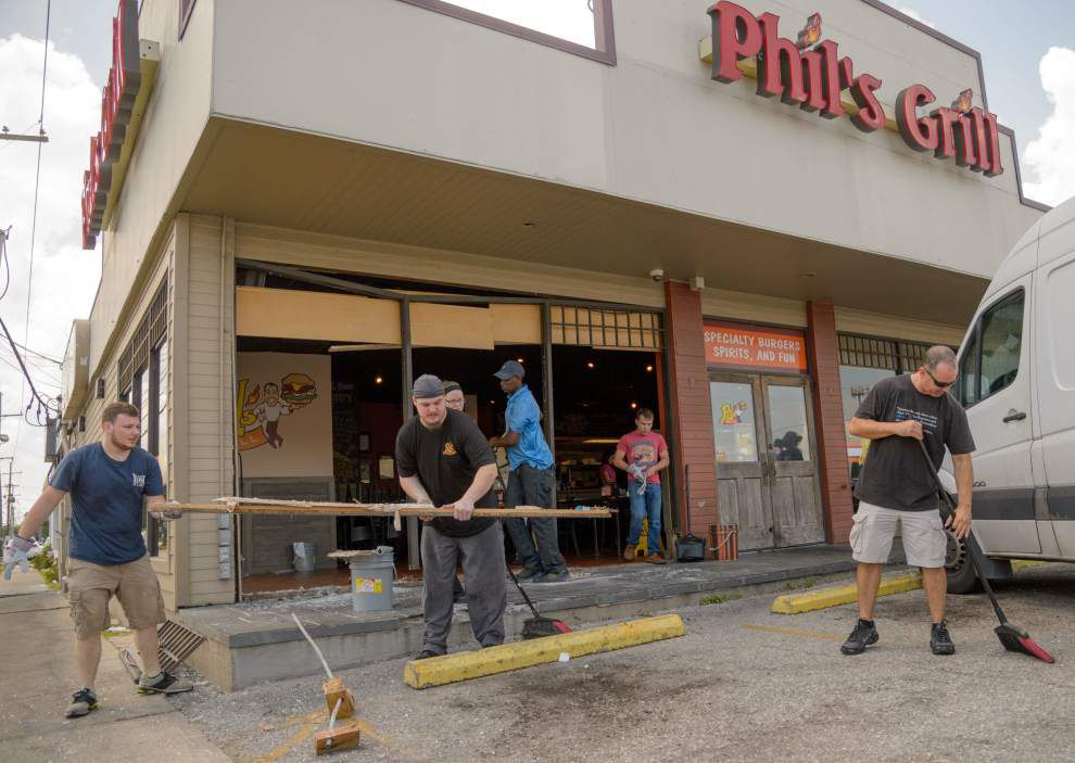 Phil's Grill in Metairie remains open after car plows into burger joint _lowres