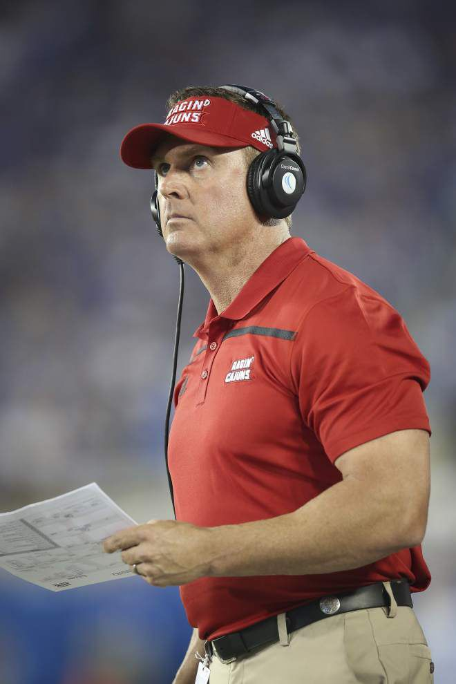 'I want to be an open, spread team, a tempo team:' As search for a new offensive coordinator continues, coach Mark Hudspeth is clear on the Ragin' Cajuns' focus on offense _lowres