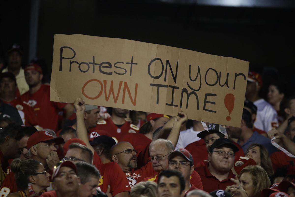 Redskins Chiefs Football anthem protest