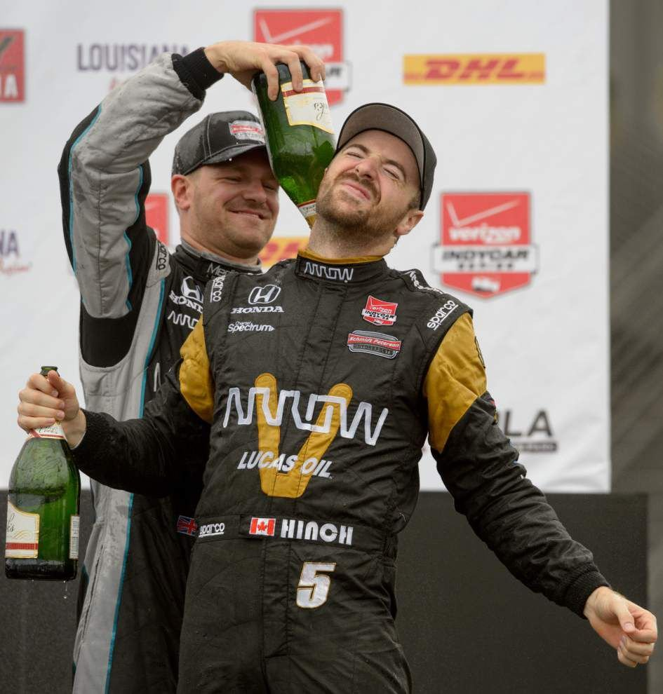 After series of cautions turns it into a timed race, James Hinchcliffe wins inaugural Indy Grand Prix of Louisiana _lowres