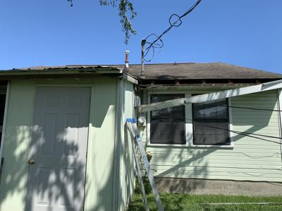 Hurricane Ida Damage back porch