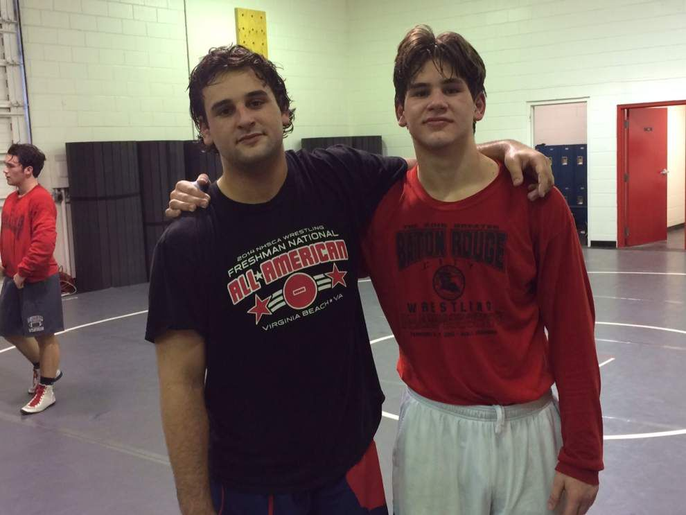 Wrestling a family affair for brothers Mason and Grant Rabel of Dunham _lowres