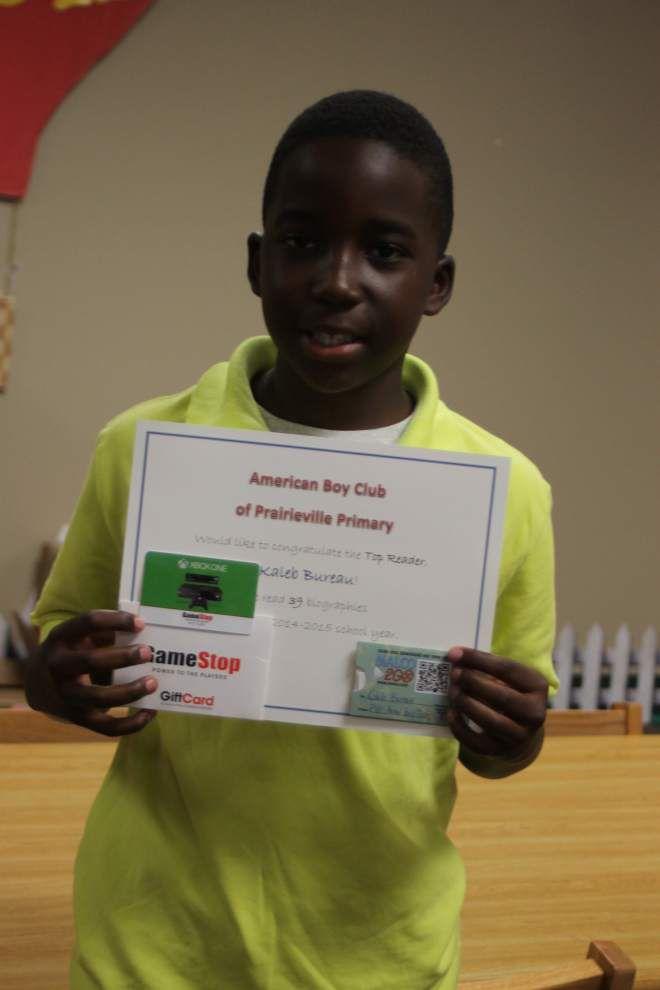 Prairieville Primary School fifth-graders earn reading honors _lowres