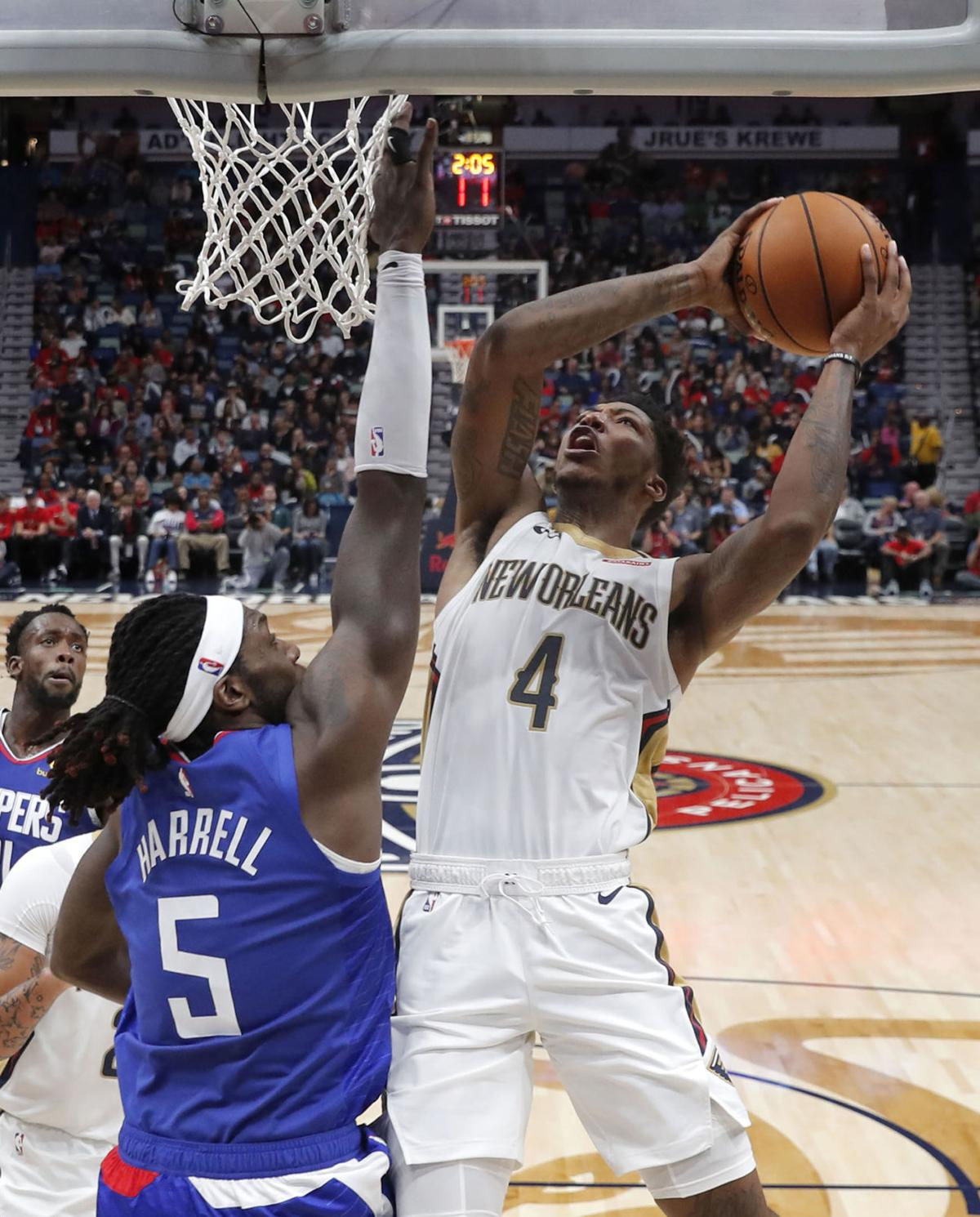 Clippers Pelicans Basketball. Buy Now. New Orleans Pelicans guard Elfrid  Payton ... 290bc7694