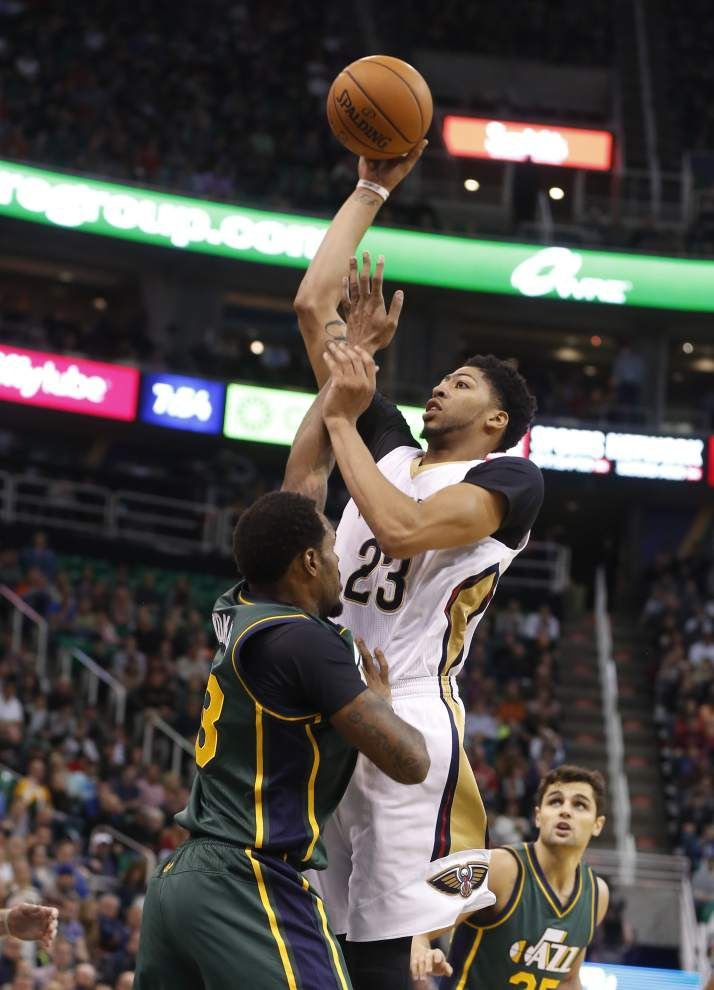 Anthony Davis scores 36 in loss to Jazz _lowres
