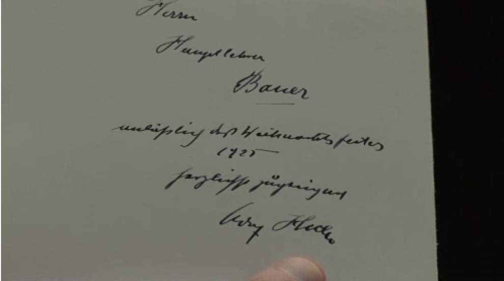 Video: 'Mein Kampf' signed by Hitler up for auction _lowres