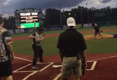 Video: Saints go long in Black and Gold home run derby _lowres