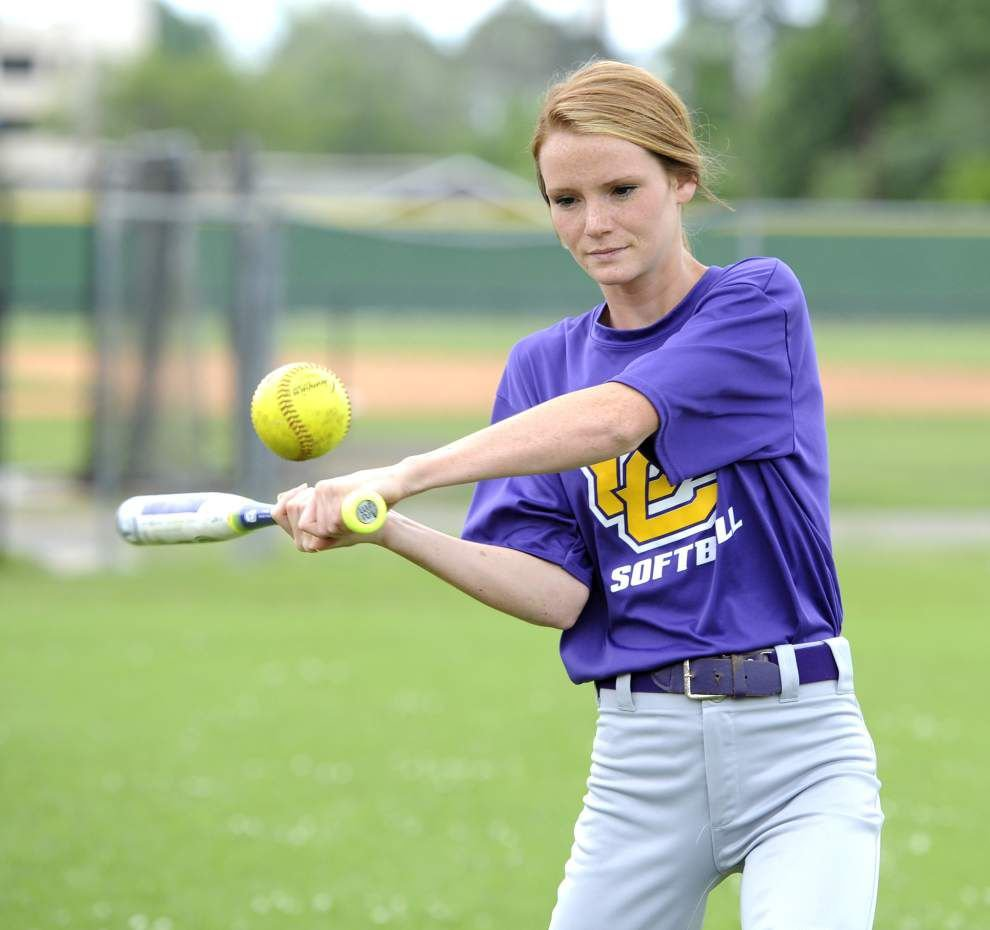 After a scary incident on the ski slopes, Lauren Miller is getting back in the swing of things with the Opelousas Catholic softball team _lowres