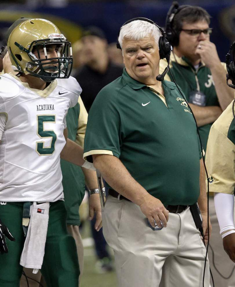 Class 5A all-state: Acadiana coach Ted Davidson named Coach of the Year; Ronald Broussard is Outstanding Defensive Player _lowres