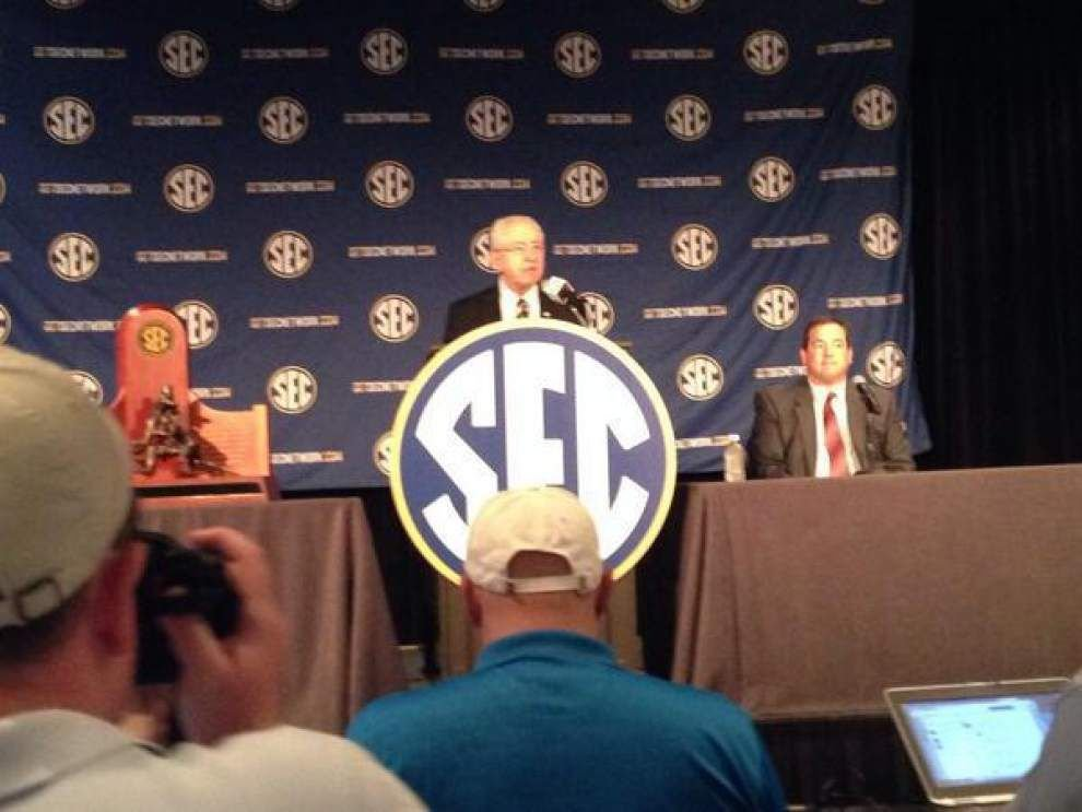 Live updates from the SEC media day on Monday _lowres