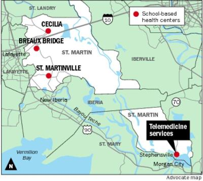 map of st martinville louisiana Telemedicine To Link Students At Remote Stephensville Elementary map of st martinville louisiana