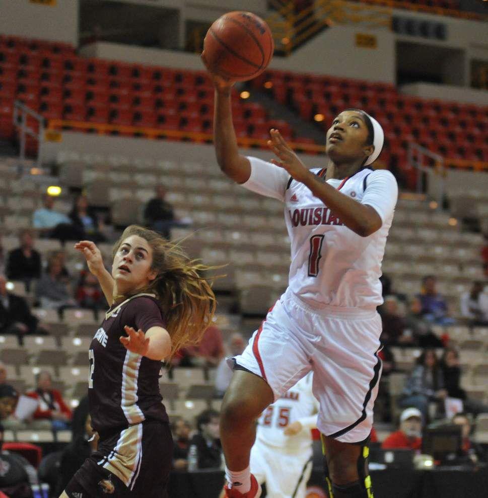 Texas State snaps UL-Lafayette women's win streak _lowres