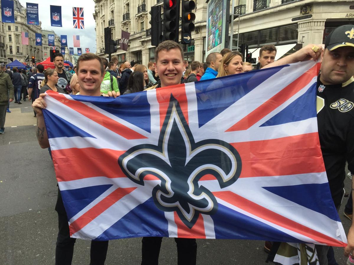 Saints fans in London