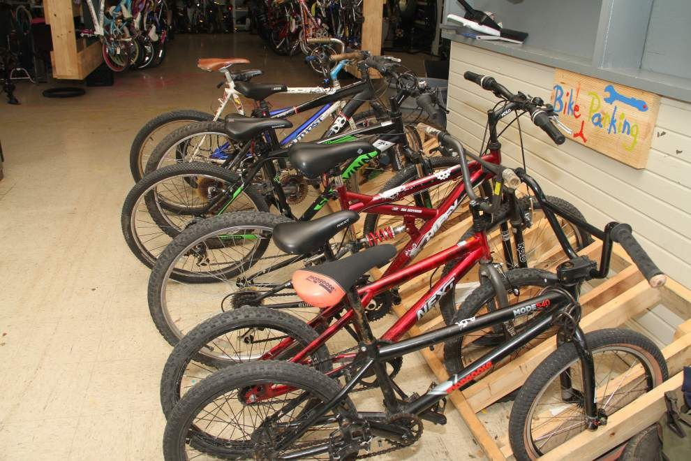 Baton Rouge nonprofit lets children learn to fix bikes, exchange work for free bike _lowres