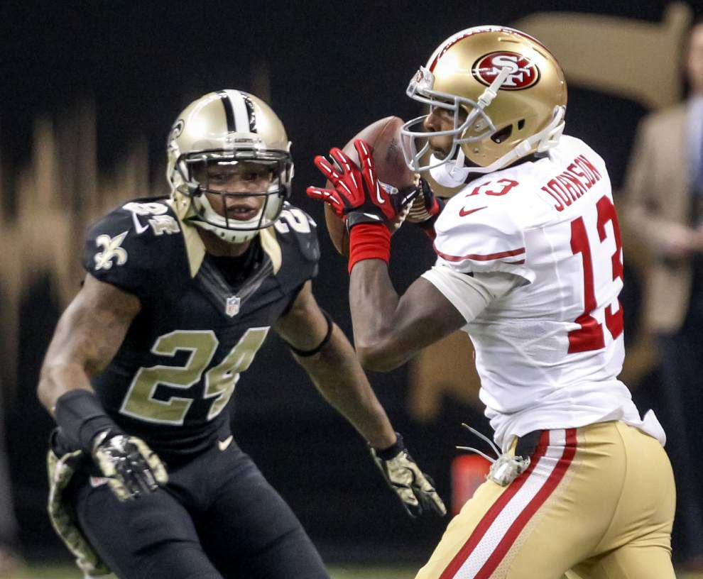 Saints' Corey White disputes Jimmy Graham's take on that pass-interference penalty _lowres