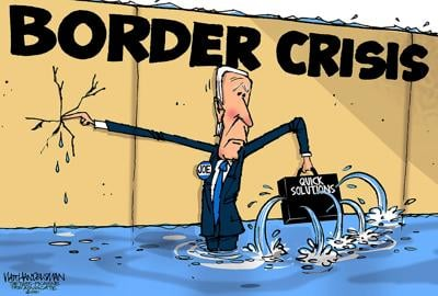 Walt Handelsman: Flooded Border