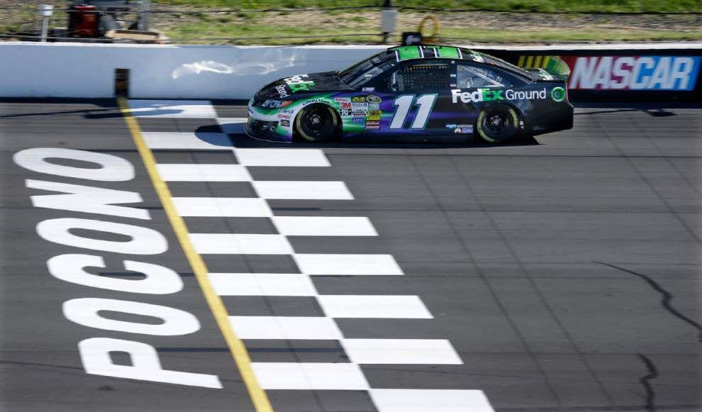 Denny Hamlin blisters track at Pocono _lowres