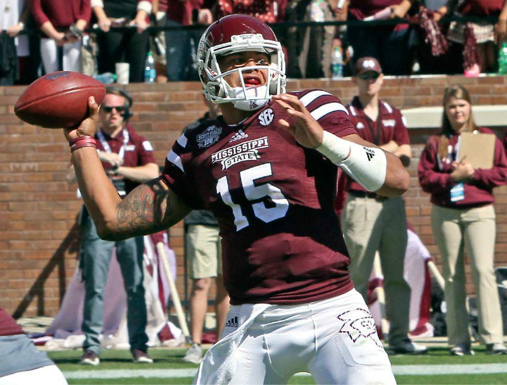 Auburn defense prepares for Mississippi State quarterback Dak Prescott _lowres