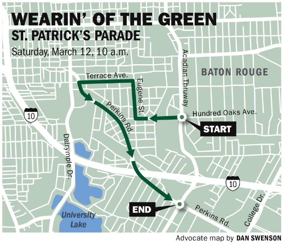 Wearin' of the Green Parade on Saturday in Baton Rouge: What you need to know _lowres