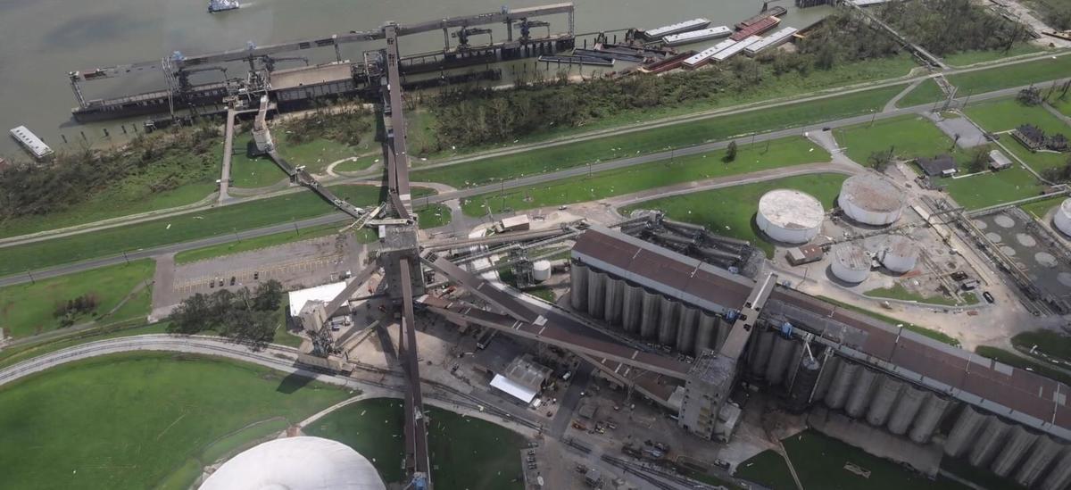 Hurricane Ida Grain Elevator Damage