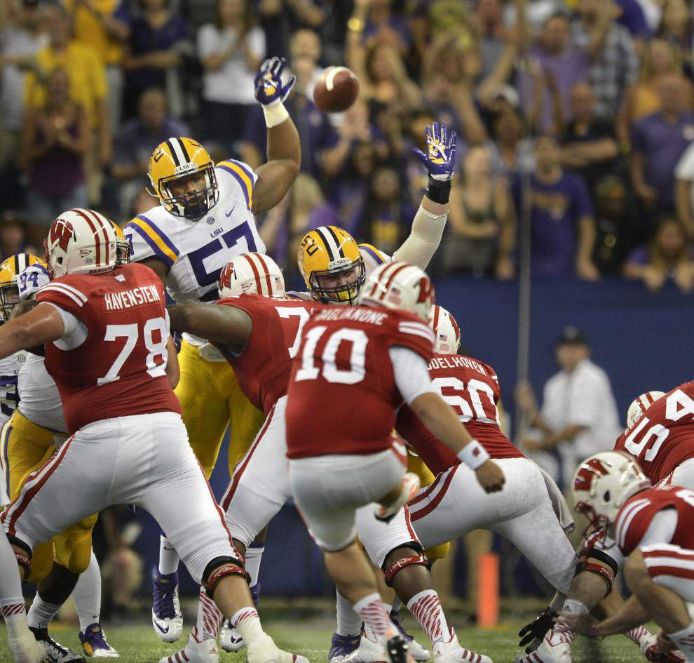 LSU defensive end Deondre Clark, defensive tackle Davon Godchaux, receiver Trey Quinn move up depth chart _lowres