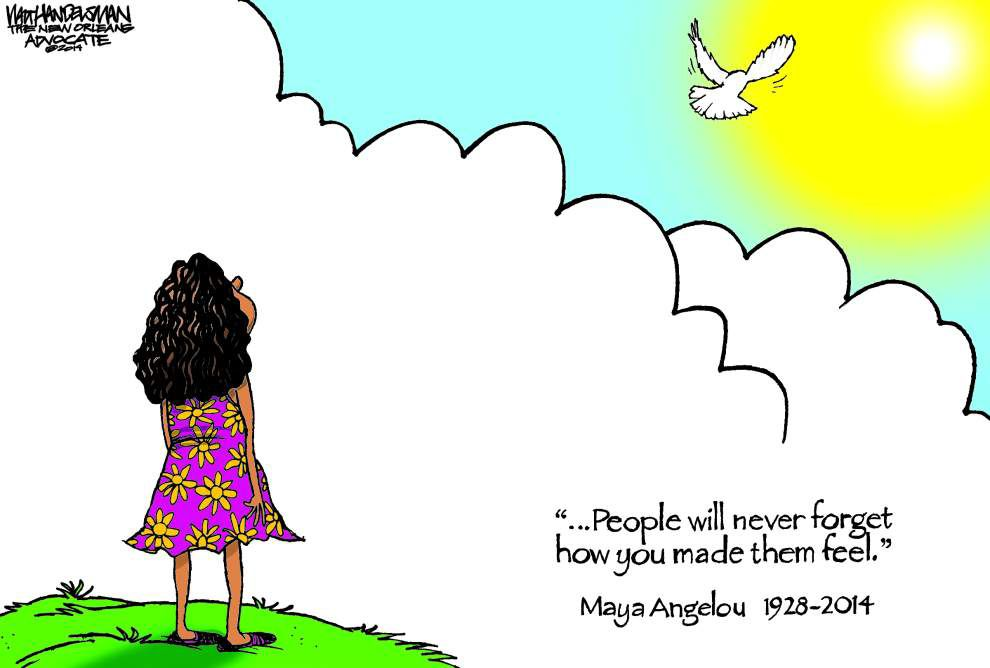 Letter: Cartoon tribute to Angelou stirring _lowres