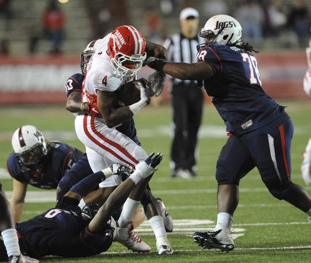 Vintage Jamal Robinson was on display during Cajuns' loss at South Alabama on Thursday _lowres