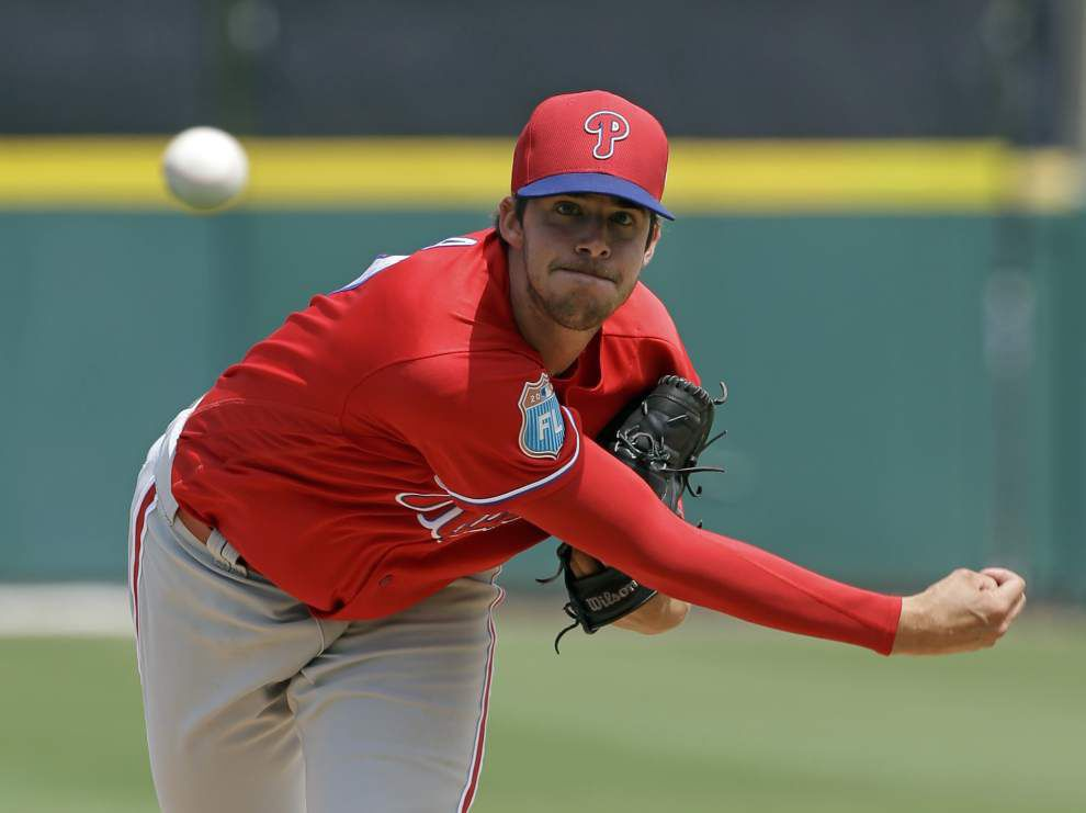 Back to work: Ex-LSU ace Aaron Nola is ready for his first full big-league season in Philadelphia _lowres