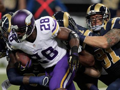 Vikings bar running back Adrian Peterson from all team activities _lowres