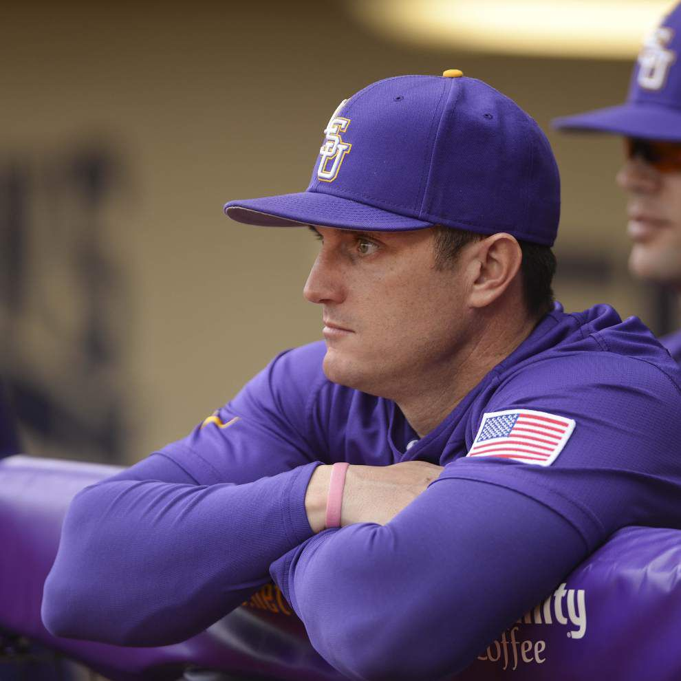 LSU hitting coach Andy Cannizaro, TCU head coach Jim Schlossnagle go way back _lowres