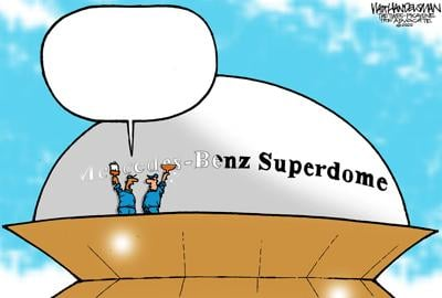 Hey, Who-Dat Nation! In Walt Handelsman's new caption contest, you get the chance to make big changes to the dome!