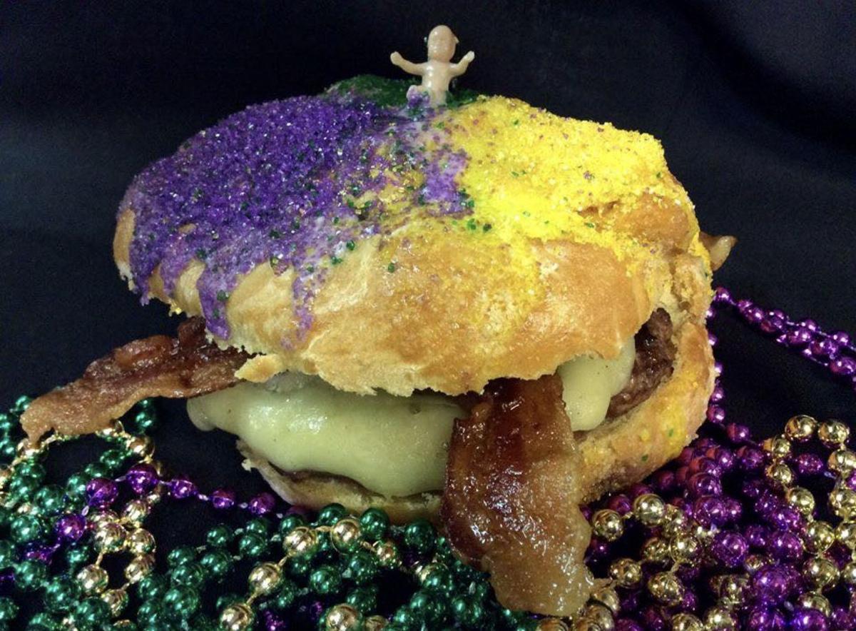 king cake burger
