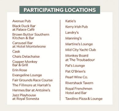 Bar Shots Participating Locations