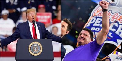 LSU: Ed Orgeron/Donald Trump
