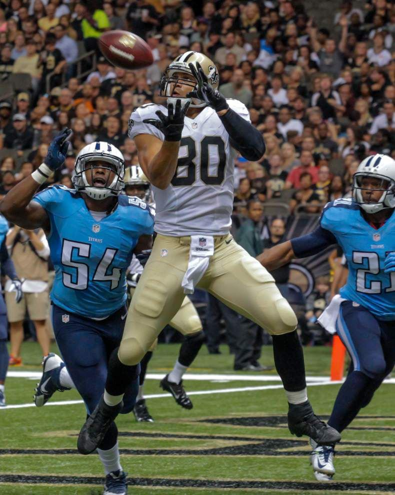 Saints offense could get a chance to experience life without tight end Jimmy Graham _lowres