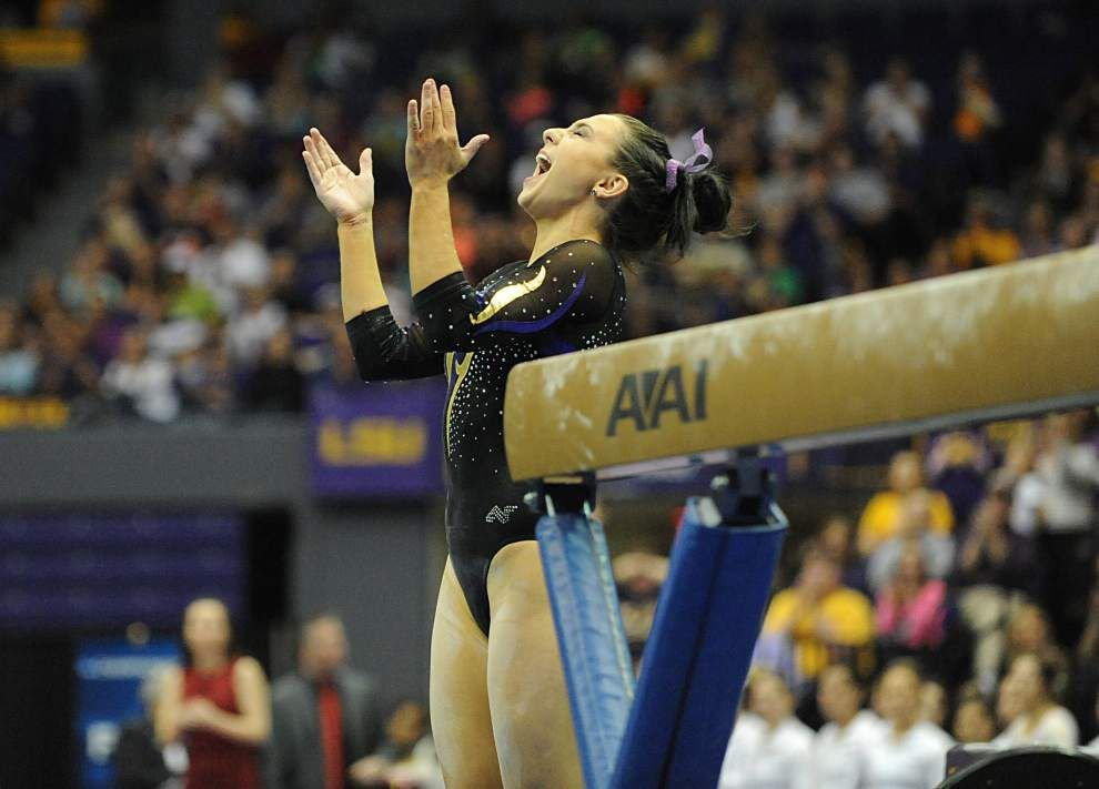 LSU gymnast Rheagan Courville driven to be the best ...
