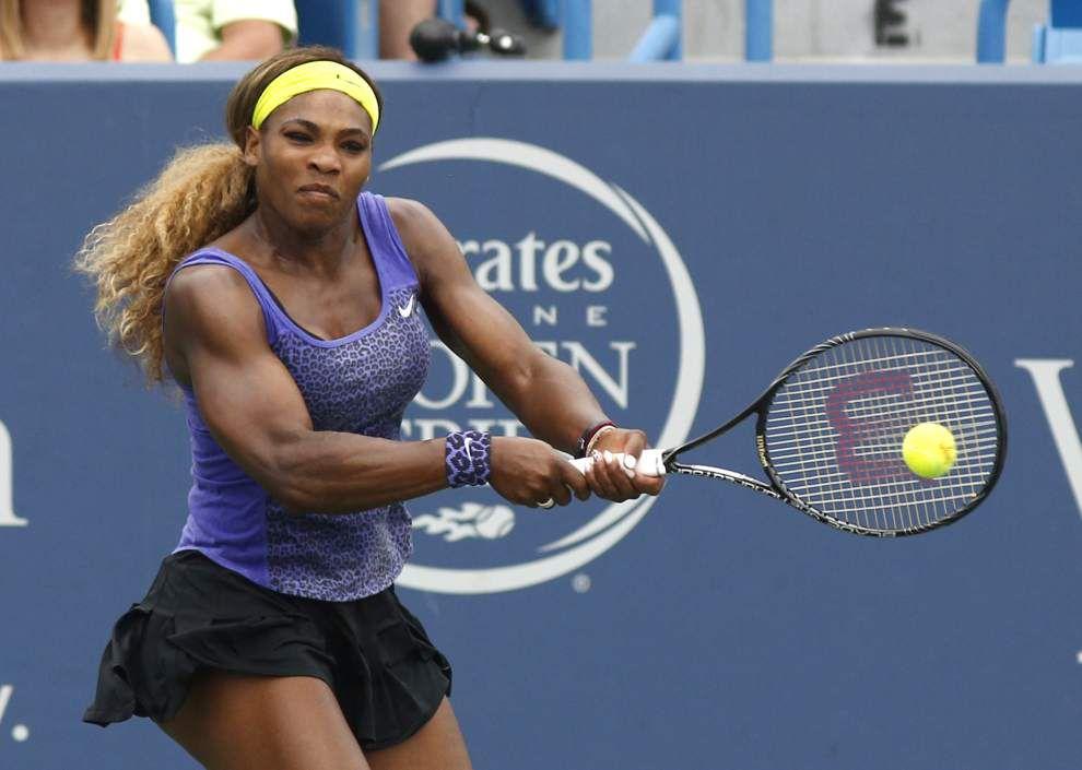 Serena Williams reaches final with triumph over Wozniacki _lowres