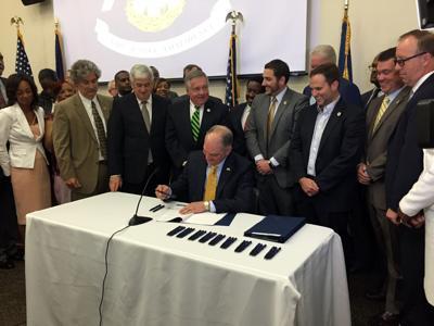 Criminal Justice bill signing