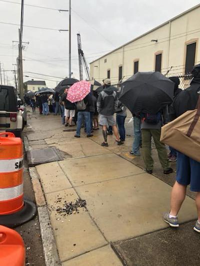New Orleans gun buyback line