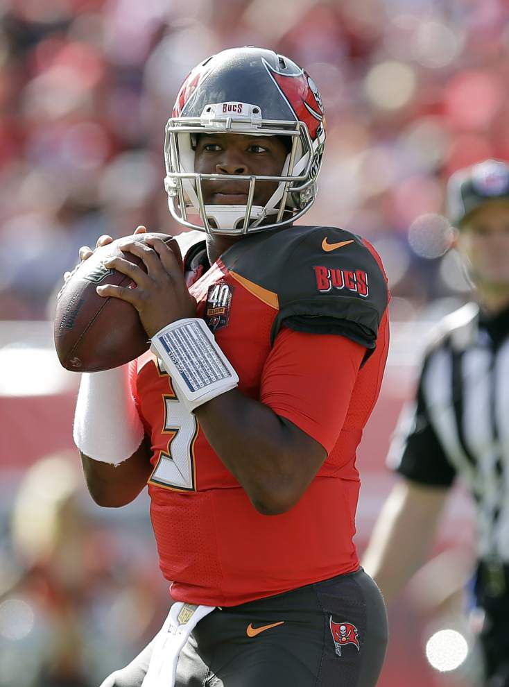 Jameis Winston lifts Tampa Bay Bucs to late touchdown in win over reeling Atlanta Falcons _lowres