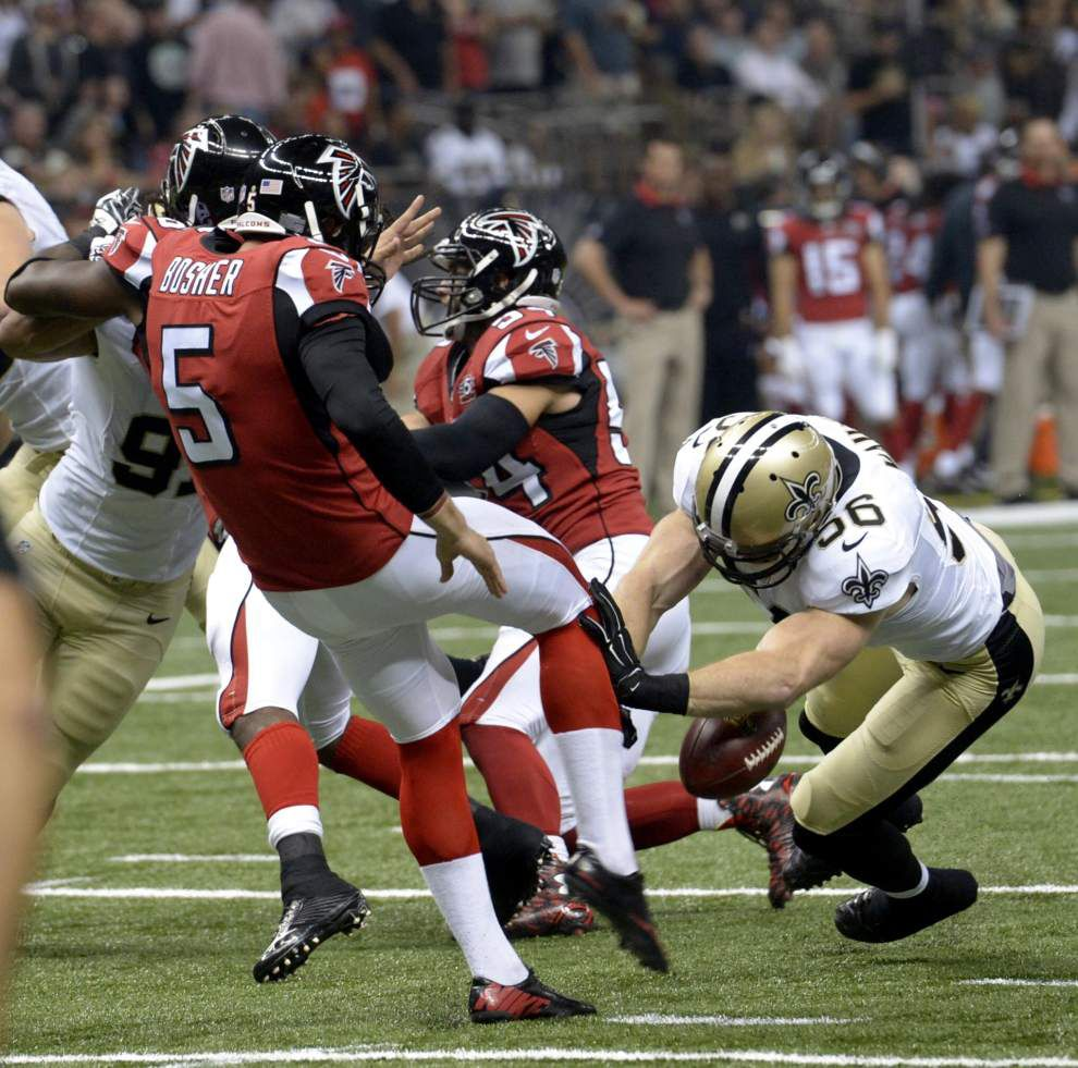 'Steve Gleason was my hero': Saints' Michael Mauti matches Gleason's block against Falcons _lowres