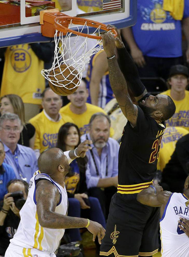 LeBron James, Kyrie Irving keep Cavaliers' season alive with 112-97 win over Warriors in Game 5 of NBA Finals _lowres