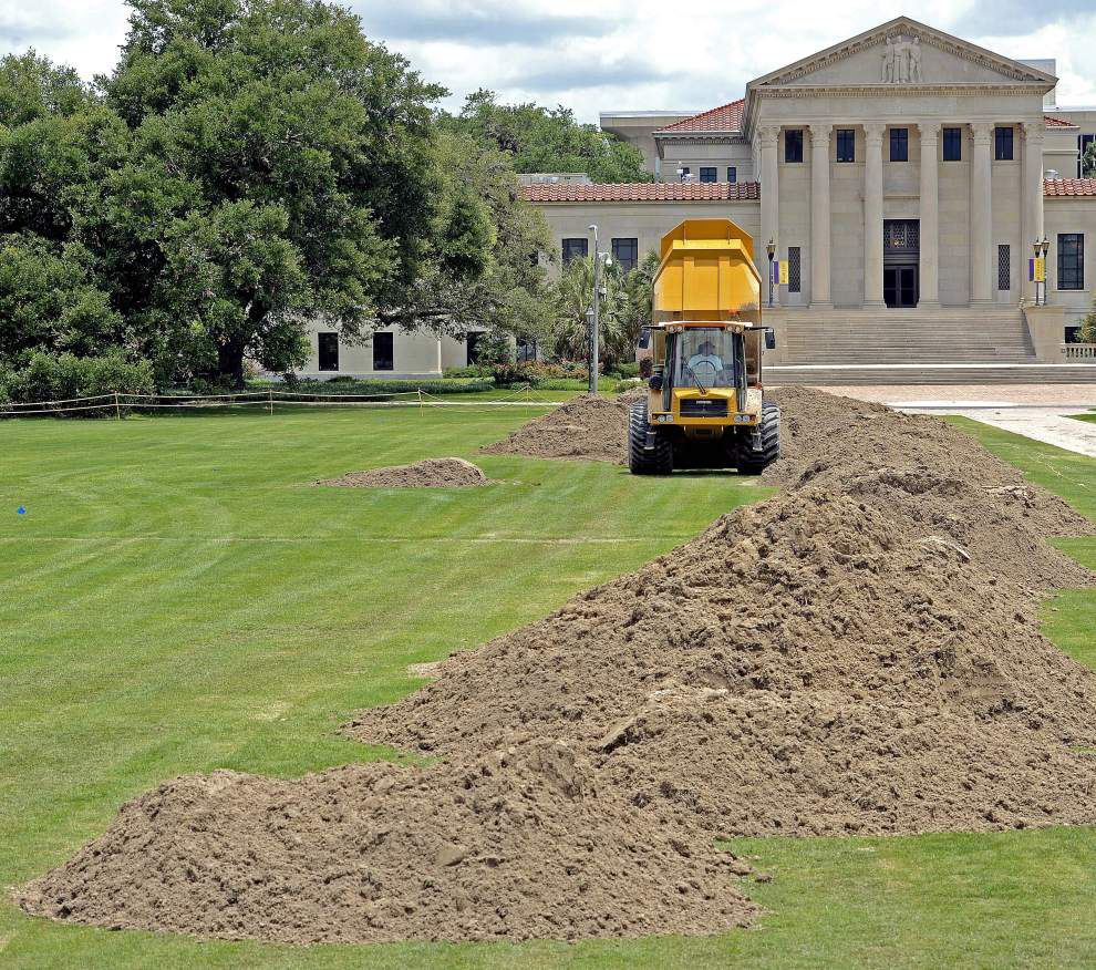 Thanks to LSU athletics, Parade Ground getting makeover that'll be ready for football season _lowres